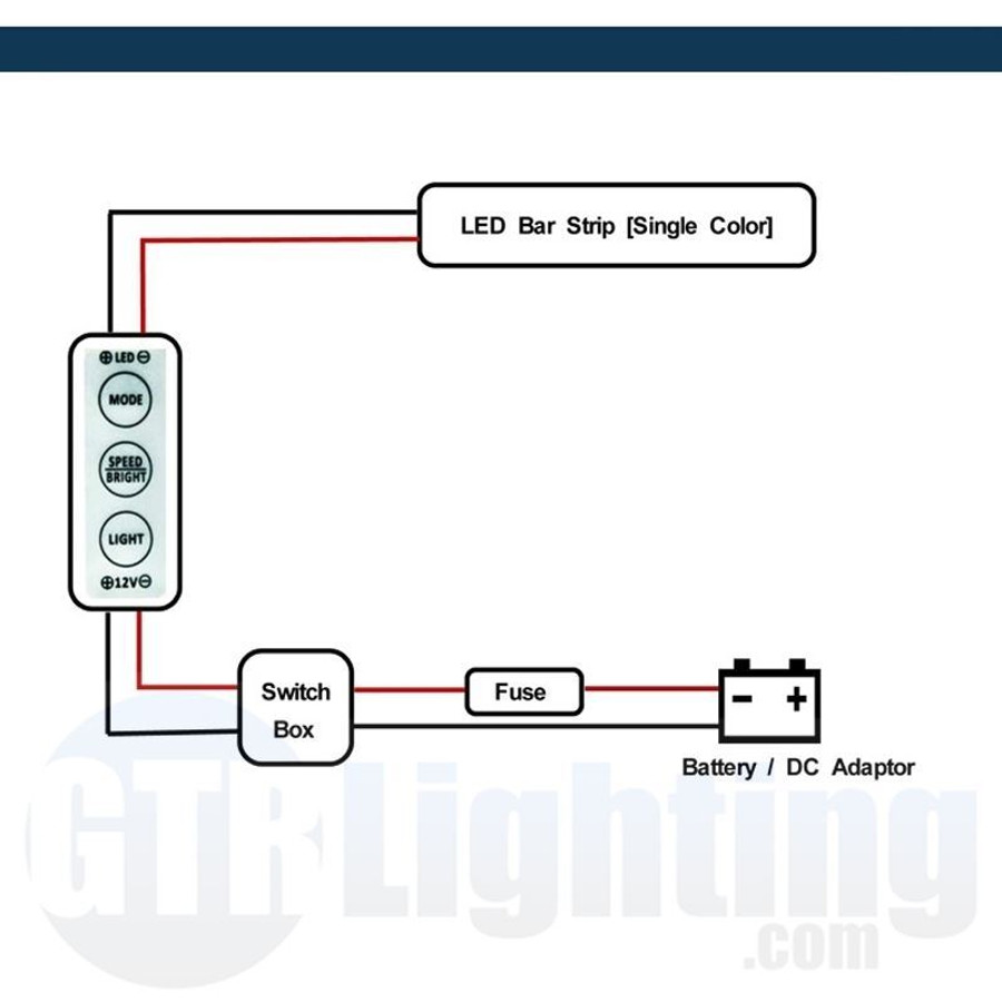 GTR Lighting Mini In-Line LED Controller: Single Color