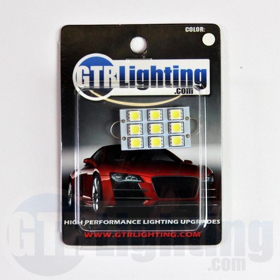 GTR Lighting 44mm Large Style Rigid Loop 9-LED Festoon Bulbs