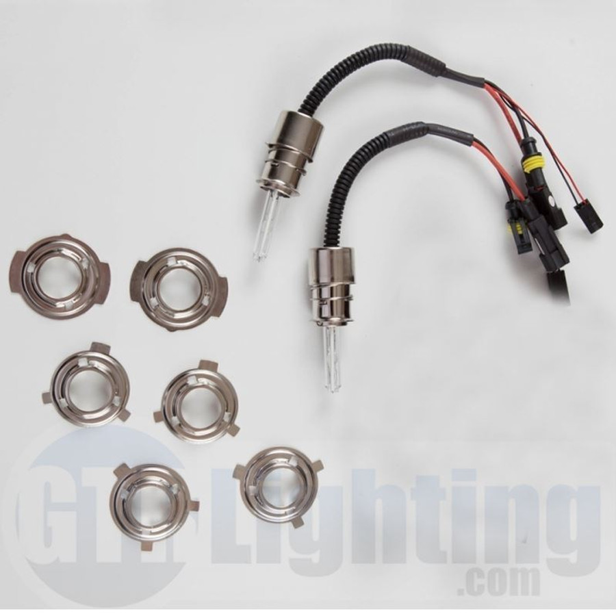 GTR Lighting 35w/55w Dual Beam Replacement HID Bulbs, H6M (Relay Harnesses Included)