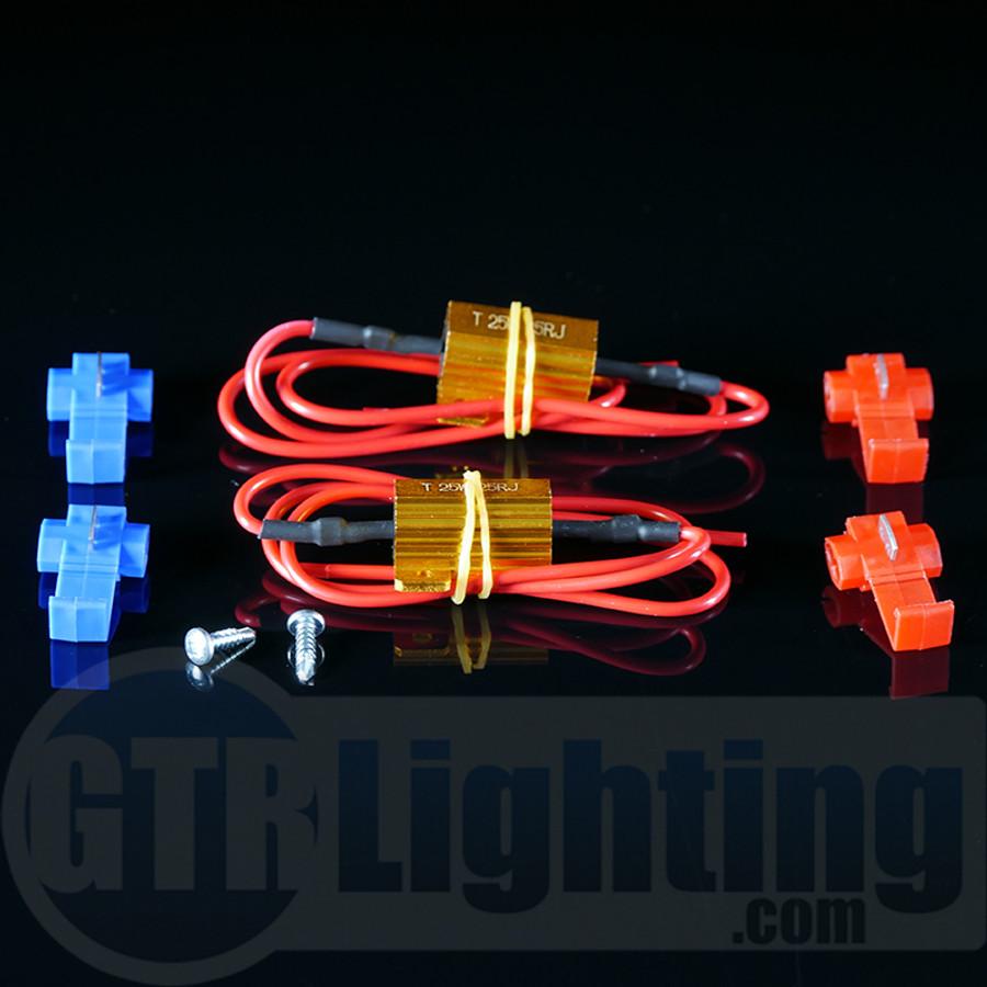 GTR Lighting 25 watt 25 ohm Gold Style Resistors, for Custom Installation
