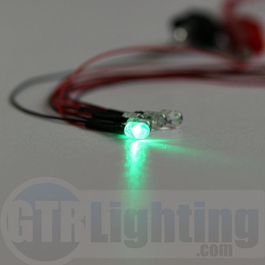 GTR Lighting (Pack of 5) 5mm LED Singles with Wires