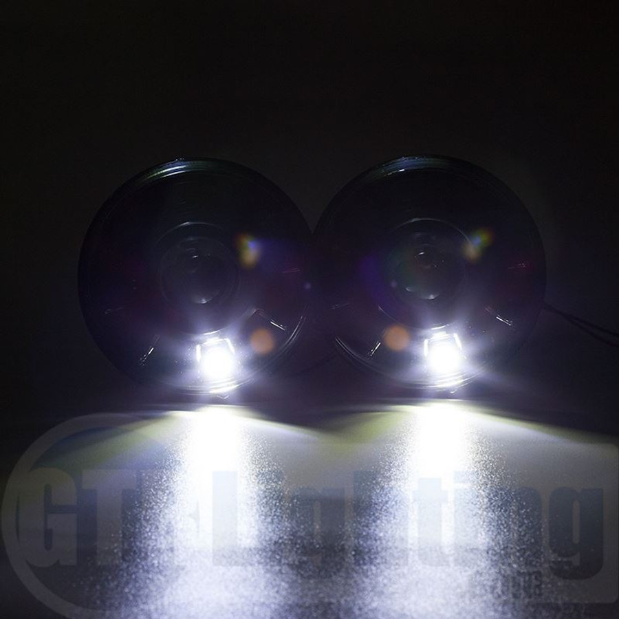 "GTR Lighting Tru-Projector Dual Beam 7"" Round H6024 Black Headlight Housing"