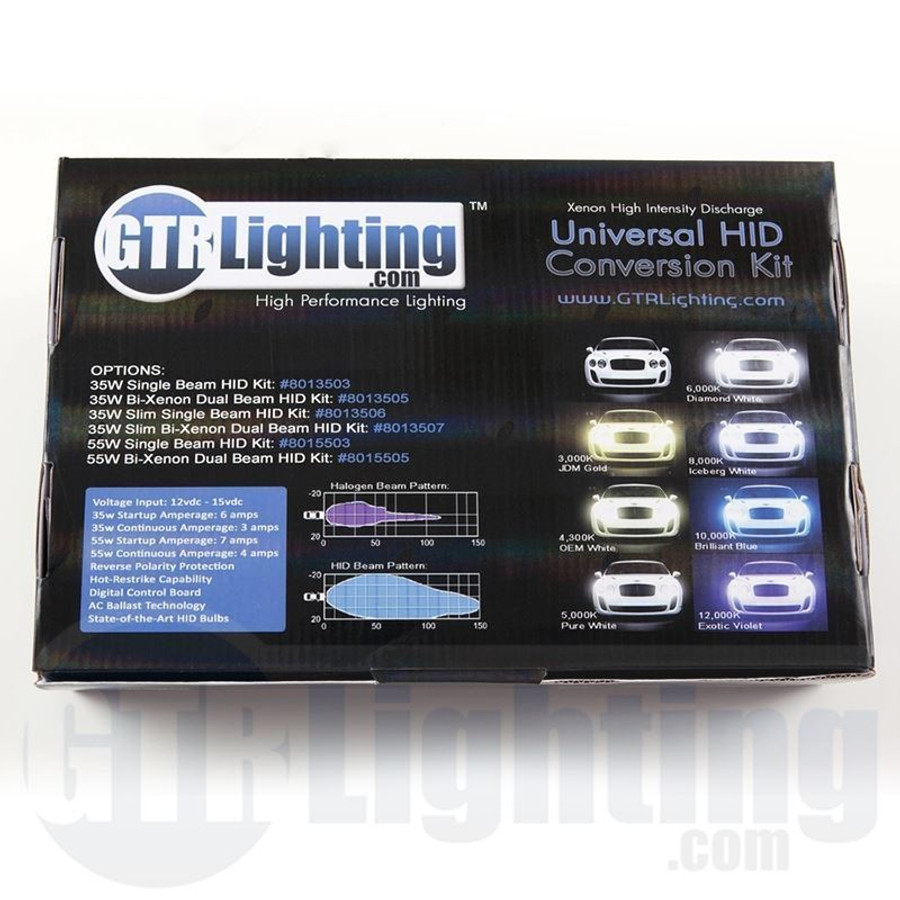 GTR Lighting 55w Hylux Dual Beam CANBUS HID Conversion Kit - 4th Generation