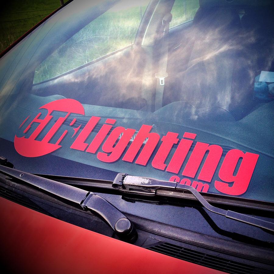 """GTR Lighting Logo Single Color Vinyl Sticker 23"""""""