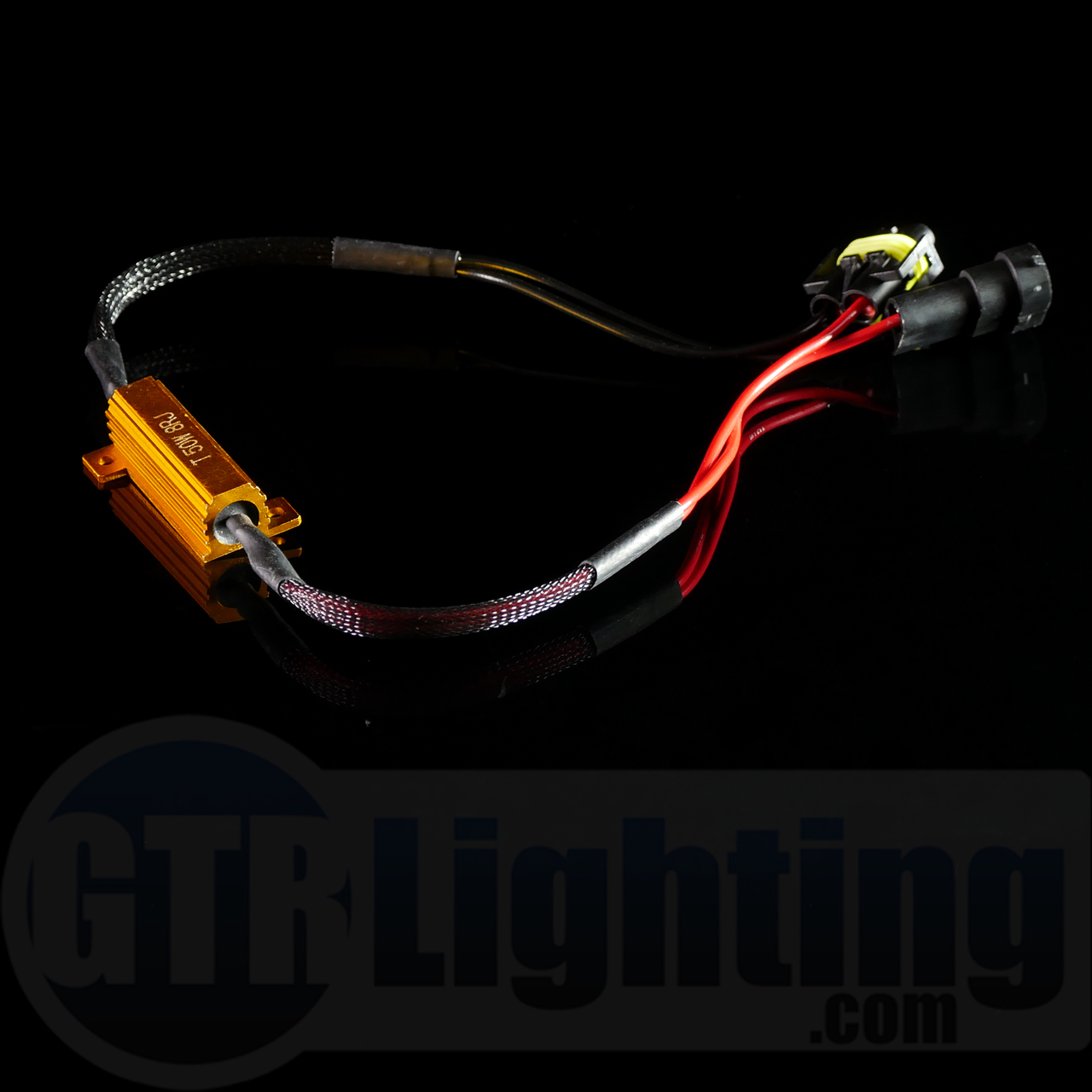 GTR Lighting H8/H9/H11/880 Style 50w Resistor T-Harness on wire connector, wire leads, wire lamp, wire ball, wire antenna, wire sleeve, wire holder, wire nut, wire cap, wire clothing,