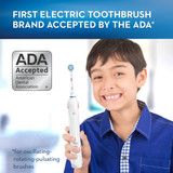 Oral-B Kids Electric Toothbrush with Coaching Pressure Sensor and Timer, Powered by Braun, White
