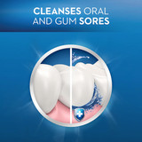 Cleanses oral and gum sores