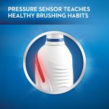 Pressure sensor taches healthy brushing habits