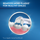 Removes more plaque for healthy smiles (vs. a regular manual toothbrush)