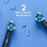 Oral-B iO Ultimate Clean Replacement Brush Heads, 2-Count, Black
