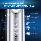 Smart Series Rechargeable Toothbrush 2-Pack, (Silver & Rose Gold)