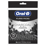 Oral-B Charcoal Infused Mint Floss Picks