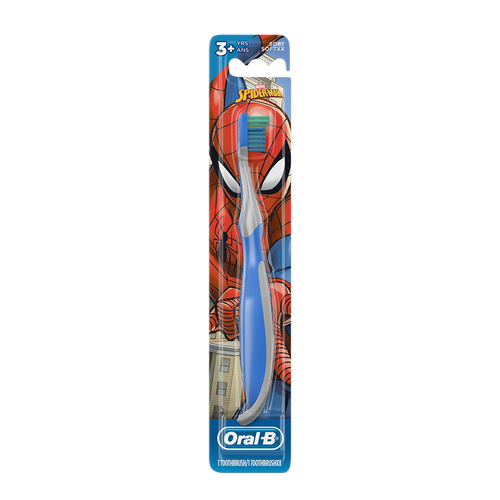 Kid's Manual Toothbrush featuring Marvel's Spiderman, Soft Bristles for Kids 3+