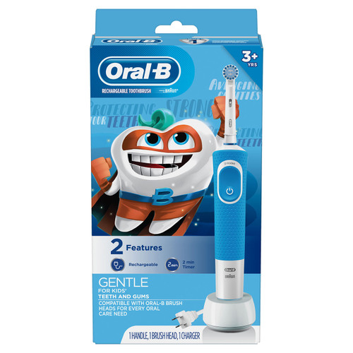 Kids Electric Toothbrush with Sensitive Brush Head and Timer, for Kids 3+