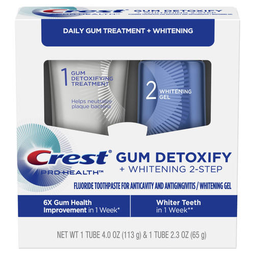 Crest Pro-Health Gum Detoxify + Whitening Two- Step Toothpaste, 4.0 oz and 2.3 oz
