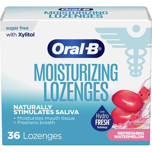 Oral-B Dry Mouth Lozenges, Refreshing Watermelon