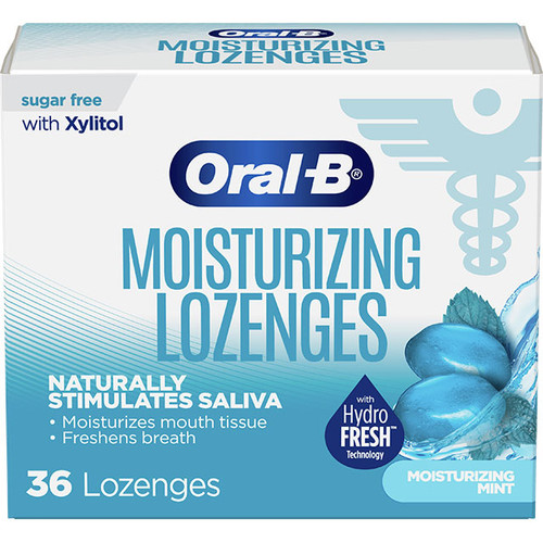 Oral-B Dry Mouth Lozenges, Moisturizing Mint flavor