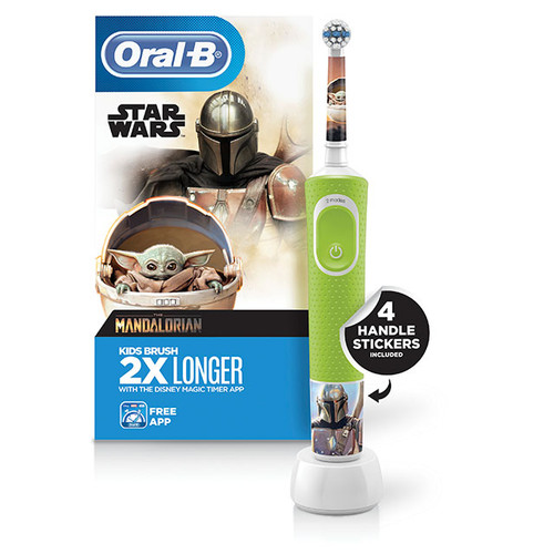 Kids Electric Toothbrush Featuring Star Wars The Mandalorian, for Kids 3+
