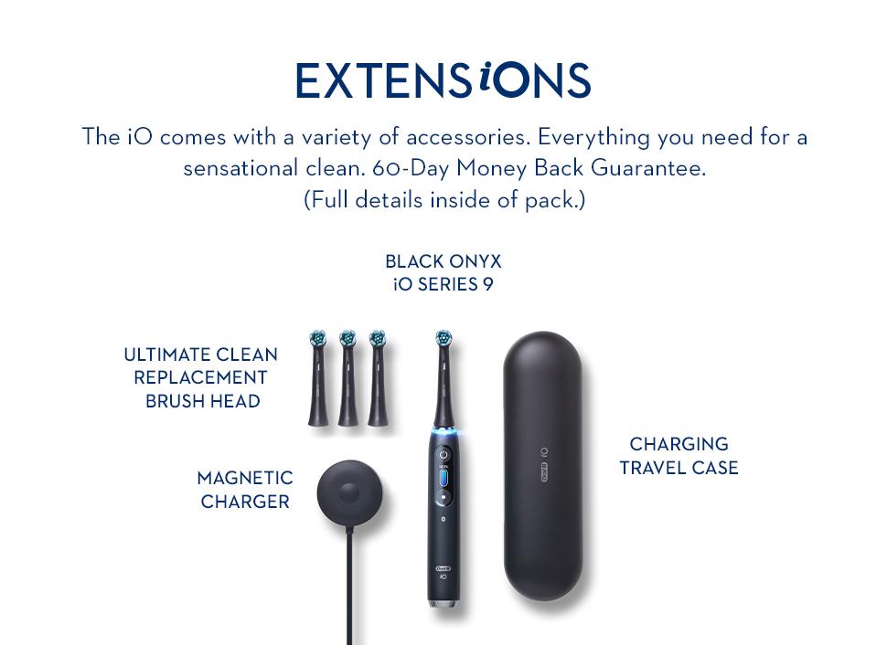 Oral-B iO Series 9 Black Onyx electric toothbrush accessories