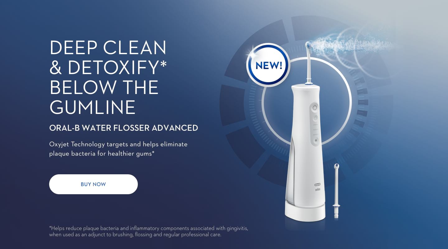 Home Page Banner Water Flosser