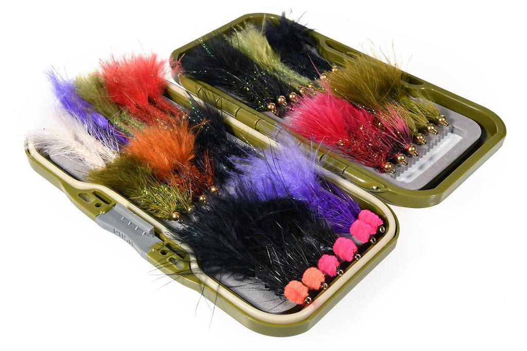 35 Woolly Buggers & Leeches Fly Selection