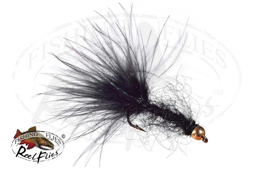 Beadhead Mohair Leech Black