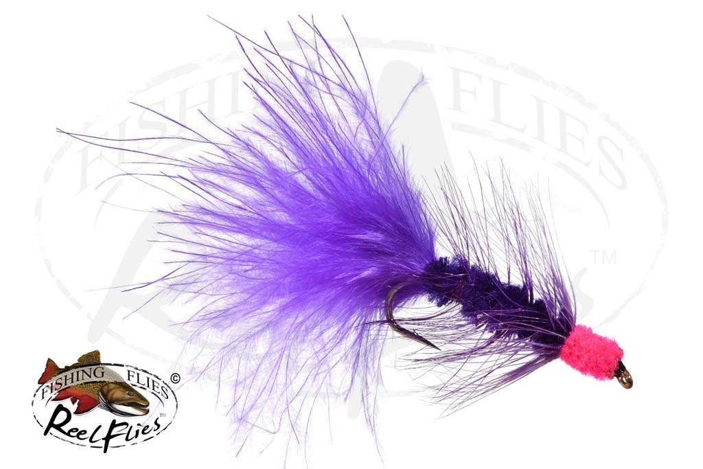 Egg Sucking Leech Purple - Hot Pink Head