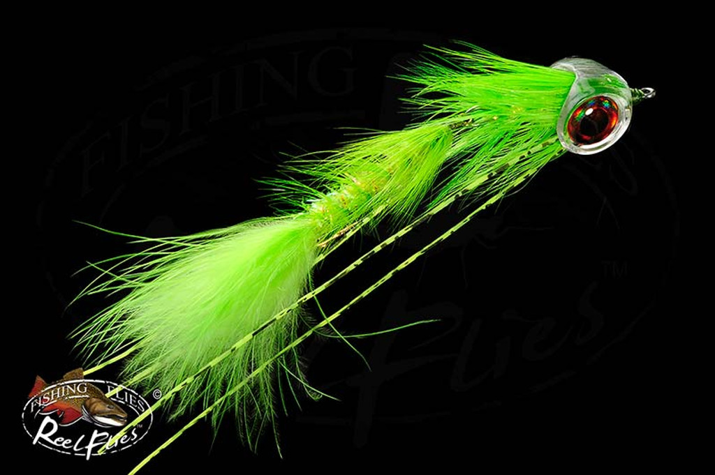 Articulated Shlappen Bugger Fly in Chartreuse