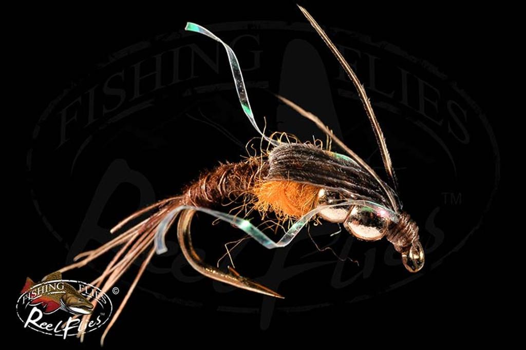 DBH Pheasant Tail Nymph Orange