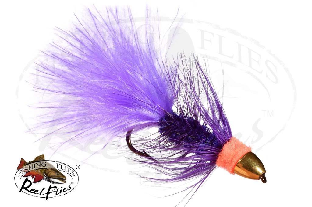 CH Egg Sucking Leech Purple Orange Head