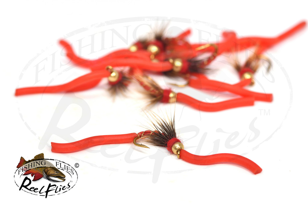 Psycho Squirmy Worm Red - RF-8212