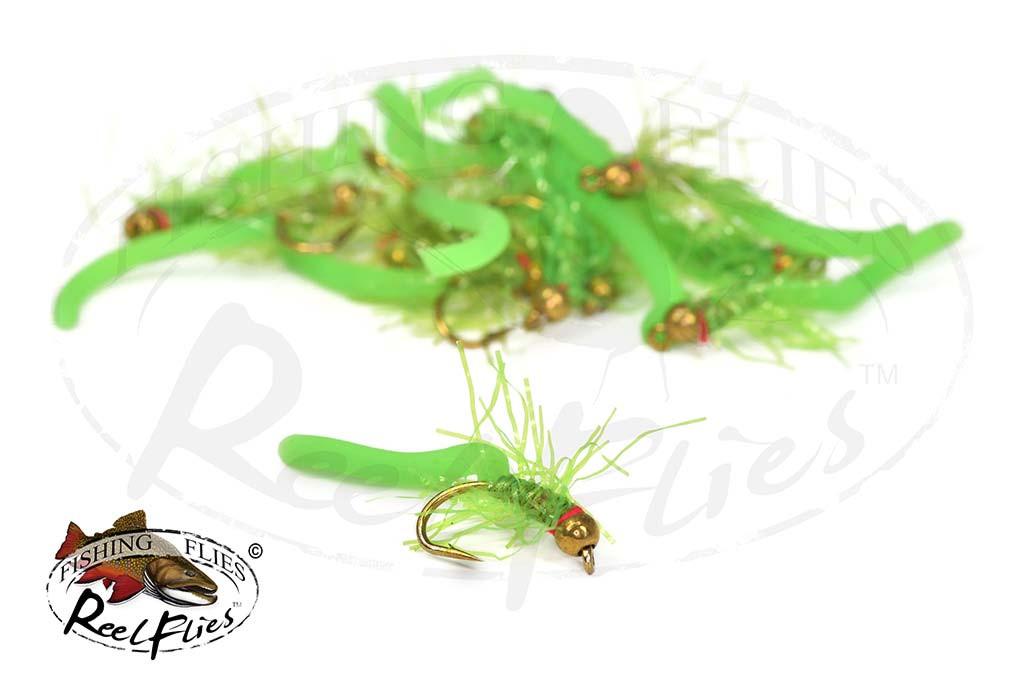 Flashy Squirmy Wormy Green