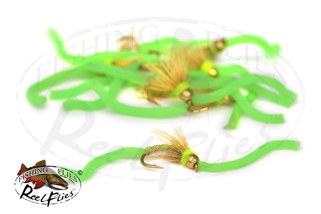 Psycho Squirmy Worm Green