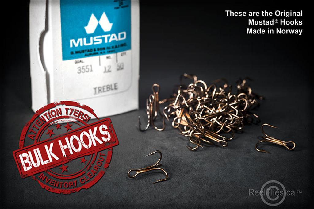 Mustad 3551-BR Classic Treble Hooks [50/pack]