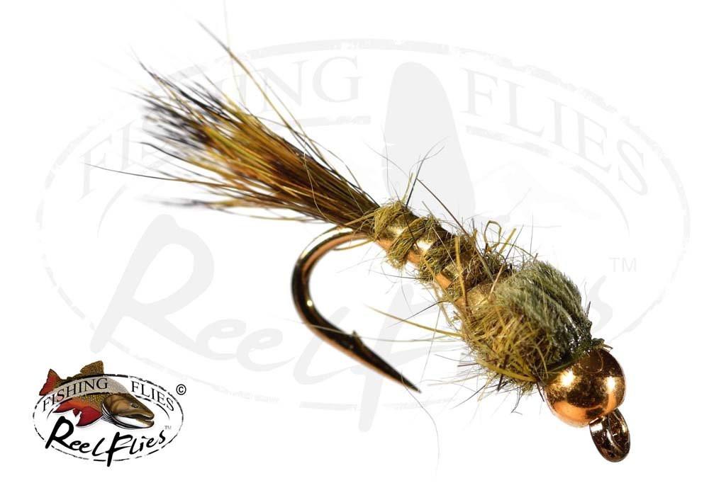Beadhead Hare's Ear Gold Ribbed Olive