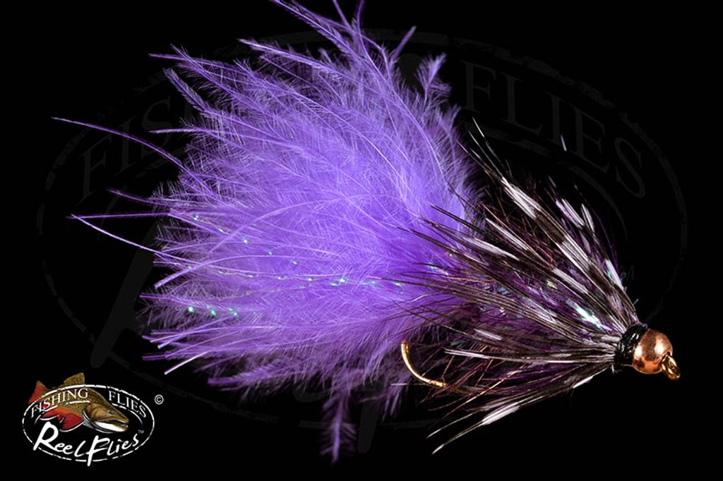 Purple Fly Fishing Fly BH Woolly Bugger