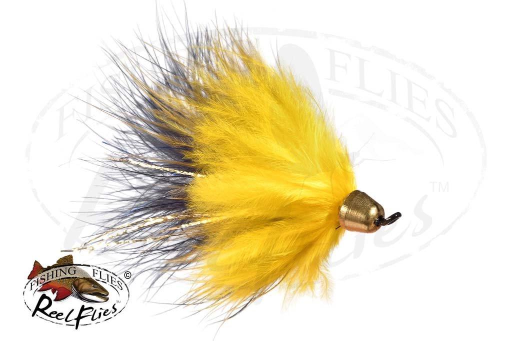 CH Popsycle Yellow Black Streamer fly