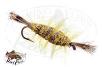 Bomber Brown Natural, Yellow Hackle, Natural Head & Tail
