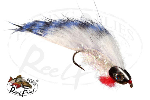 Boney Baitfish Streamer fly in Steel Blue