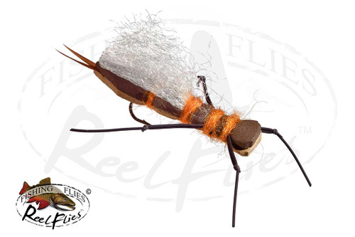 Brown Tan Foam Salmon Fly