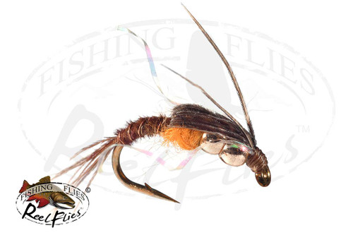 DBH Pheasant Tail Nymph Orange