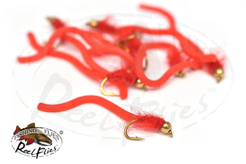 Fuzzy Squirmy Worm Red