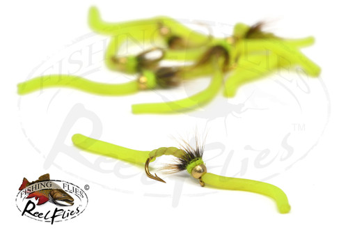 Worm Body Fluo Chartreuse Squirmy WORM Fluo Chartreuse