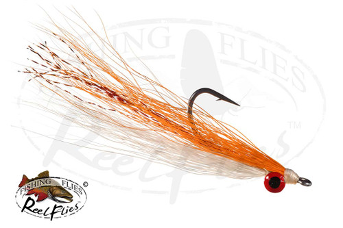 Clouser Minnow Orange and WhiteClouser Minnow Orange and White