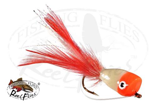 Popper White Orange Head