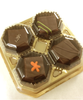 Angle view of the 4-piece Truffle Taster by Ü Chocolate for the World