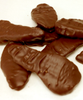 Close up of chocolate-covered candied ginger by Ü Chocolate for the World