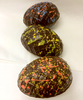 Three variations of the Elegant Egg by Ü Chocolate for the World