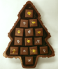 Top view of Elegant Dark Chocolate Christmas Tree by Ü Chocolate for the World