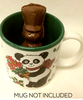 Milk Toy Soldier Hot Chocolate serving suggestion (mug not included) by Ü Chocolate for the World